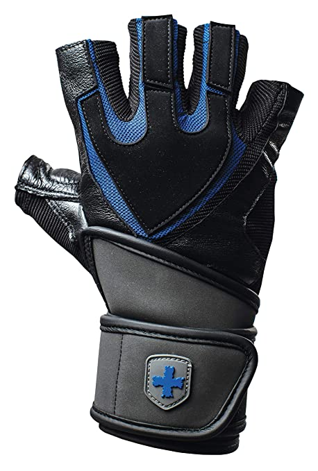 b4346e7e0d9 Harbinger Training Grip Wristwrap Weightlifting Gloves with TechGel-Padded  Leather Palm (Pair)