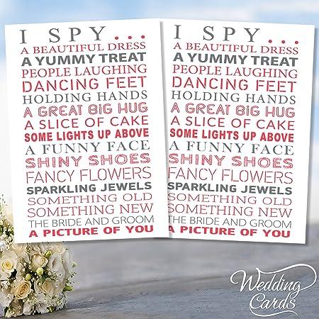 2 x wedding i spy game camera kids table activity favour