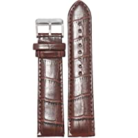 Kolet 18Mm Croco Padded Leather Watch Strap (Brown)