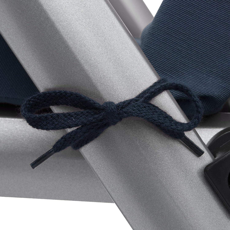 Beautissu Sun-Lounger Cushion Loft RL 200 x 60 x 5 cm Garden UV Resistant Steamer Relaxer Cover Recliner Pad Blue