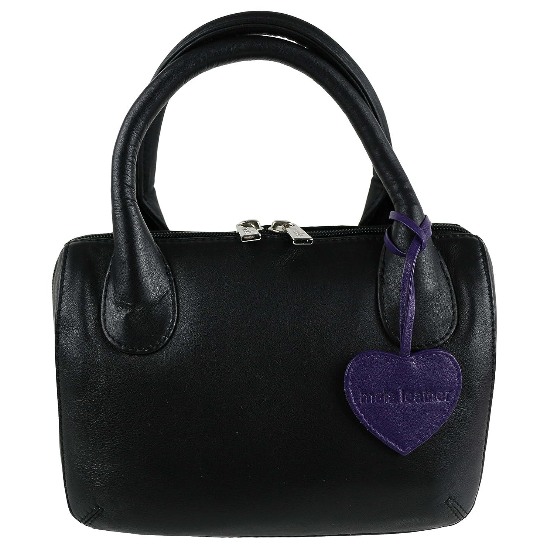 3ab2f4ec5255 Mala Leather Ladies Anishka Collection Mini Grab Bag
