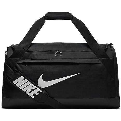 Amazon.com  NIKE Brasilia Duffel Bag, Black Black White, Medium ... f5a370e6df