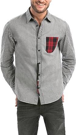 Desigual CAM_Jordi Camisa, Gris (Ceniza), XL para Hombre: Amazon.es: Ropa y accesorios