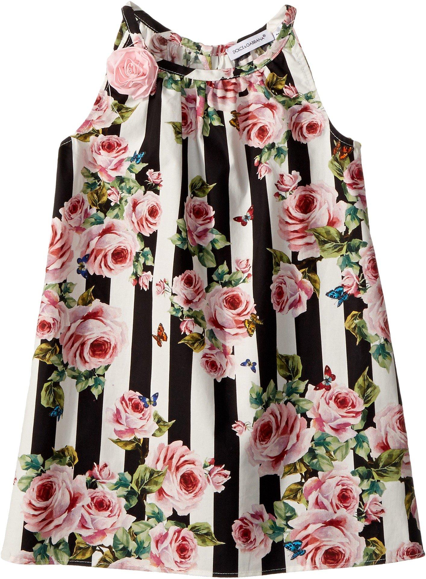 Dolce & Gabbana Kids Baby Girl's Sleeveless Dress (Infant) Stripe Rose 3-6