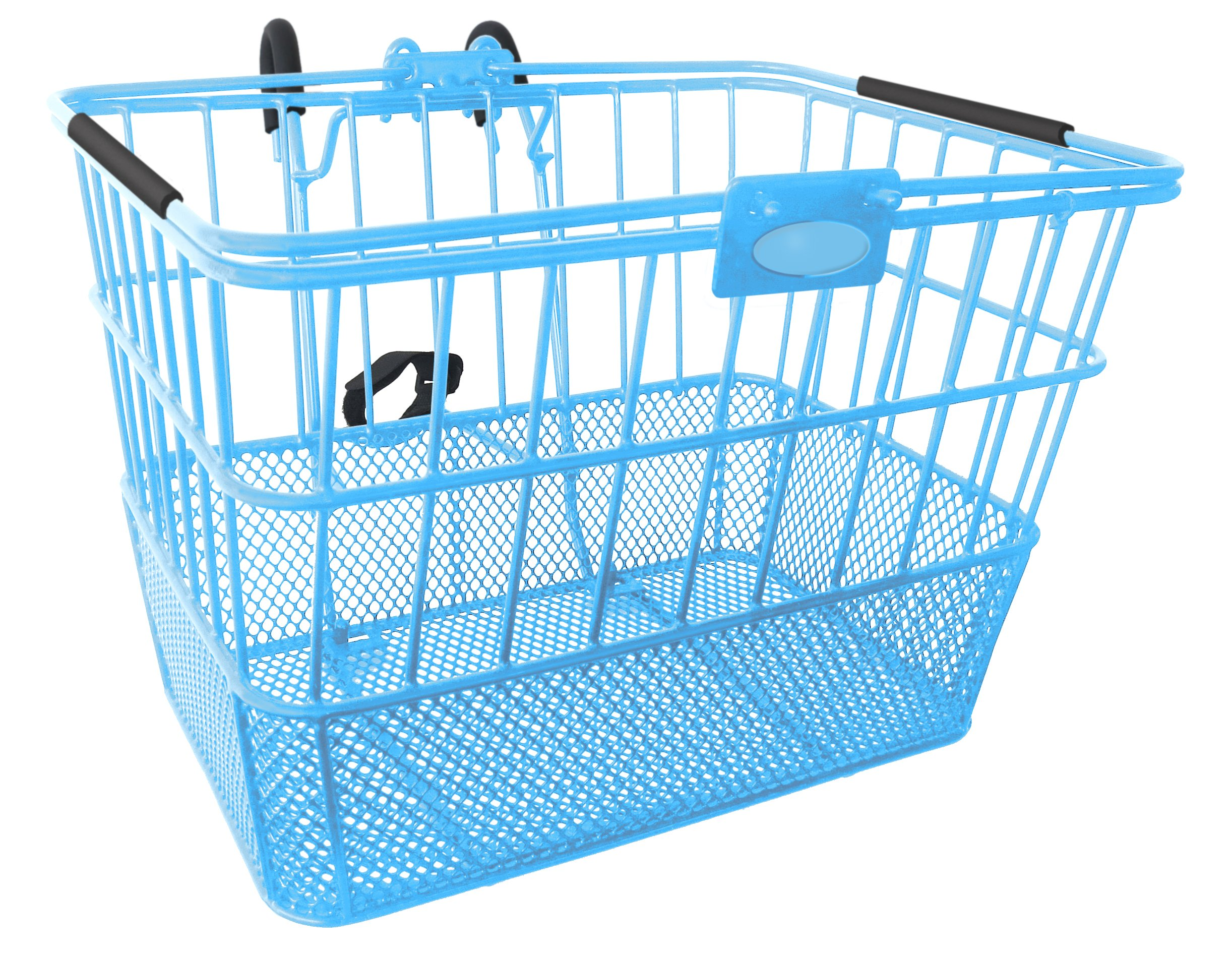 Treasure Gifts Mesh Bottom Lift-Off Basket w/Bracket, Blue