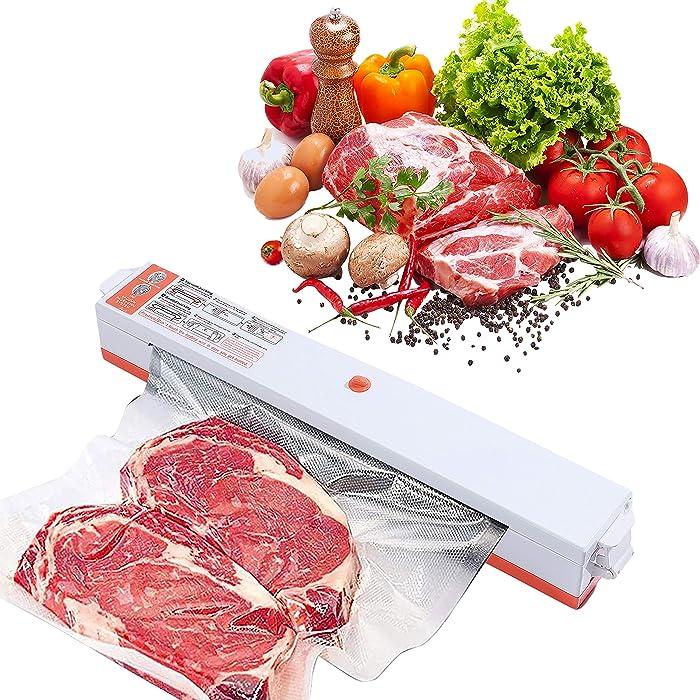 Vacuum Sealer Machine,Multifunctional Automatic Food Sealer,Seal a Meal,Food-saving Packing (14*Vacuum Sealer Bags for Food Storage Included)