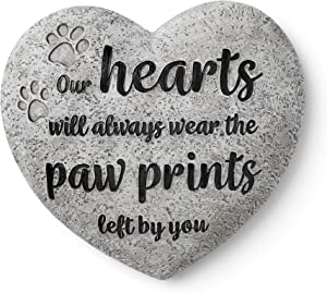 Orchid Valley Cat or Dog Grave Marker, Weatherproof Garden Memorial Stone or Indoor Display Piece with Hand Painted Tribute. Beautifully Packaged Pet Loss Sympathy or Condolence Gift