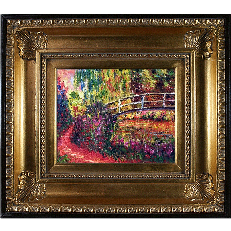 OverstockArt Monet The Japanese Bridge with Regency gold Frame, gold Finish