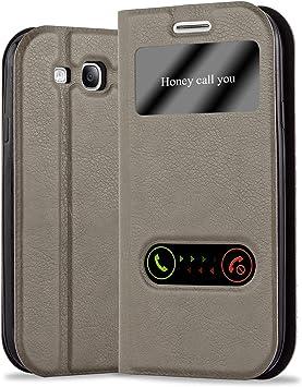Cadorabo Funda Libro para Samsung Galaxy S3 / S3 Neo en MARRÓN Piedra: Amazon.es: Electrónica