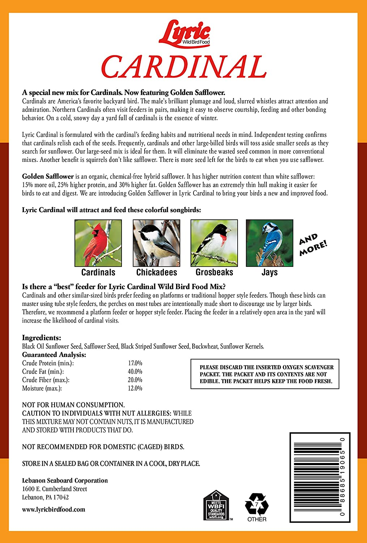 Lyric Cardinal Food - 18 lb  bag