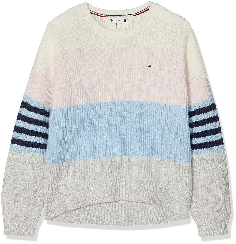 Tommy Hilfiger Fluffy Colorblock Sweater LS Felpa Bambina