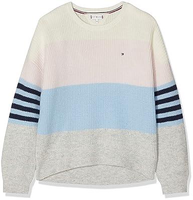 Tommy Hilfiger Ame Girls Flag CN Knit LS, Pull Fille