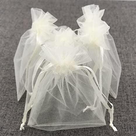 Amazon.com: ATCG - 100 bolsas de organza con cordón de ...