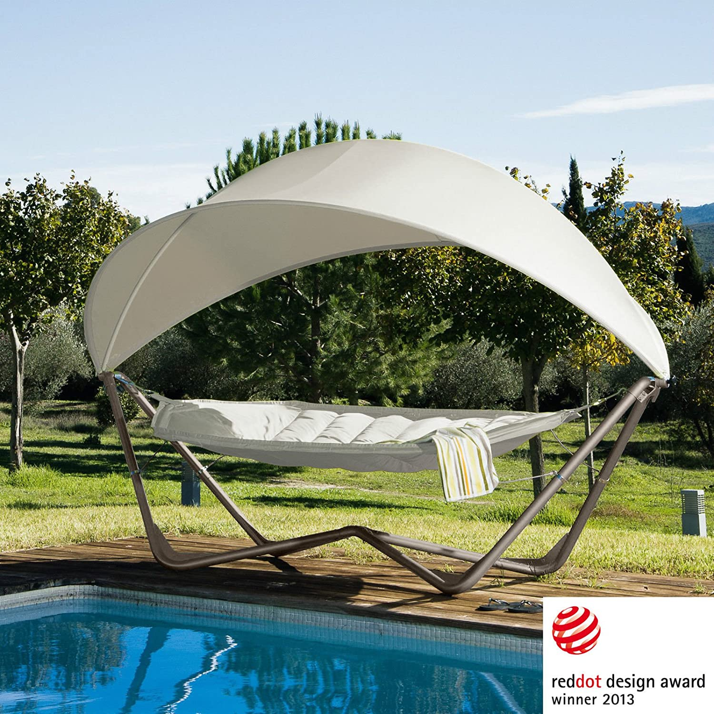 Amazon.de: Gondola Hammock Hängematte mit Gestell und Sonnensegel UV ...