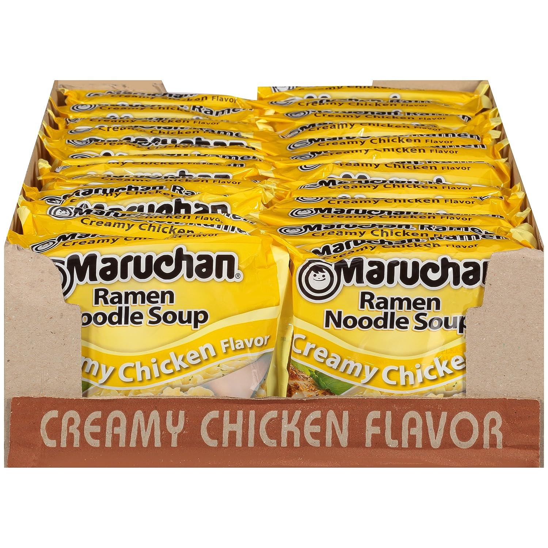 Amazoncom Maruchan Ramen Creamy Chicken Flavor 3 Oz 24 Pack