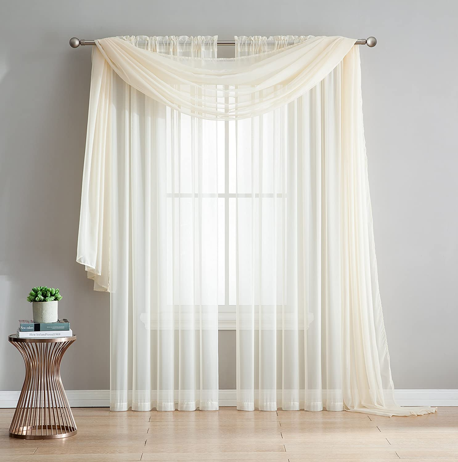 Voile Curtains for Window Treatment - Natural Light Flow Beige