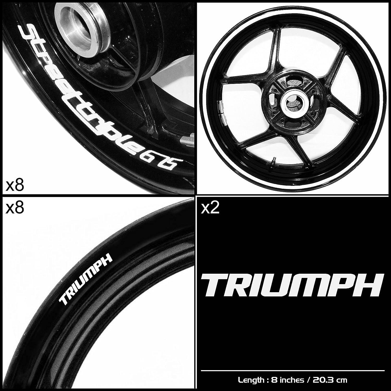 Stickman Vinyls Triumph Street Triple 675オートバイデカールステッカーパッケージ光沢ホワイトグラフィックキット B06XK4PJR8