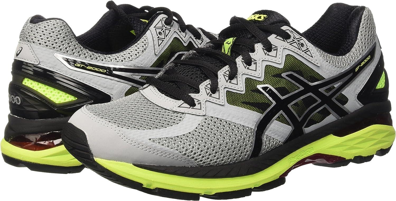 Asics Gt-2000 4, Zapatillas de Running para Hombre, (Midgrey/Black/Safety Yellow), 40 EU: Amazon.es: Zapatos y complementos