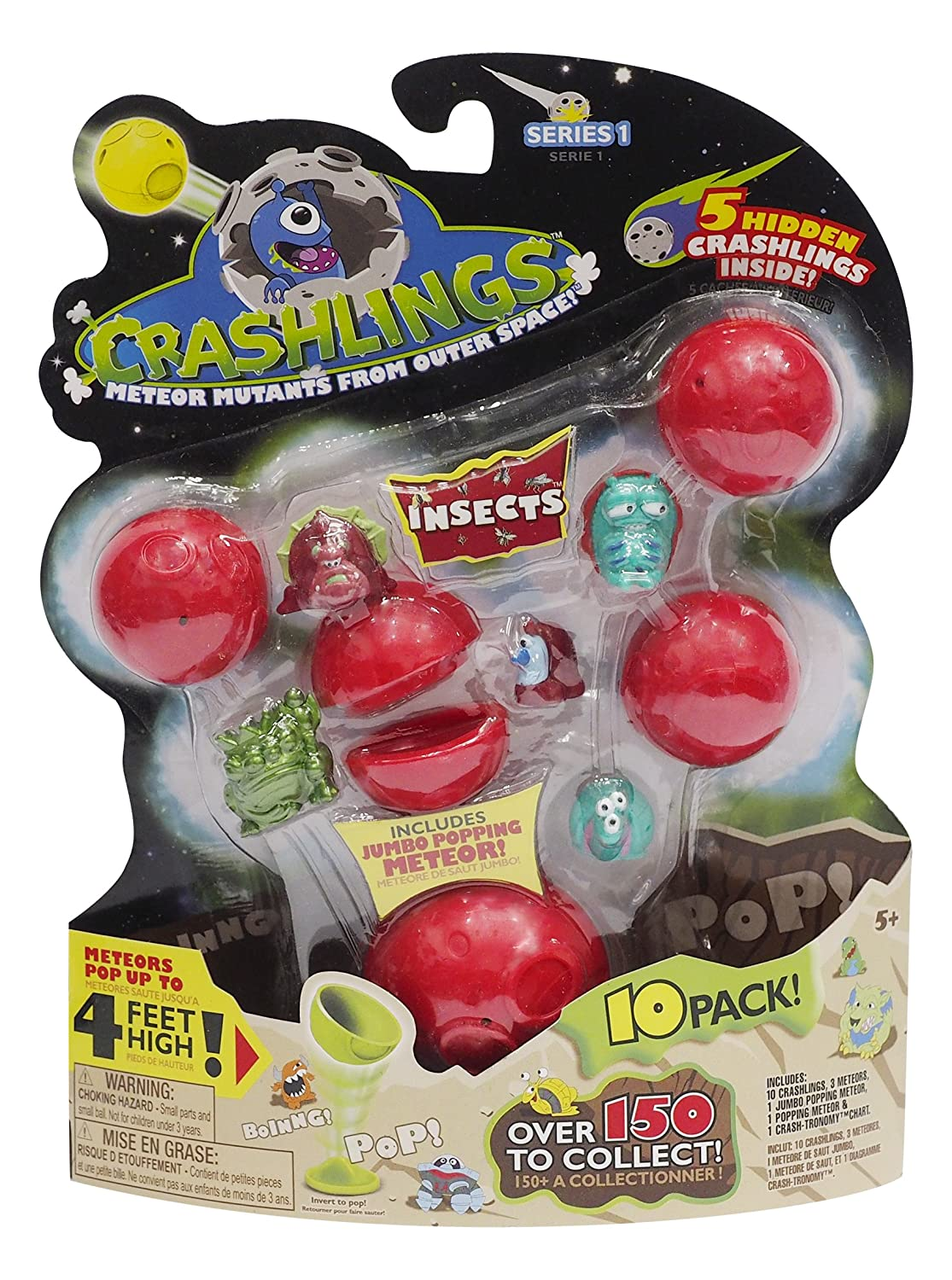 Crashlings Domestic 72002 10 Pack Random Selection Wicked Cool Toys Series 1 Mini Figures Insects