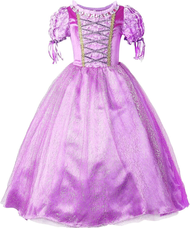 JerrisApparel Princesa Vestido de Fiesta niña de Disfraz Carnaval Morado