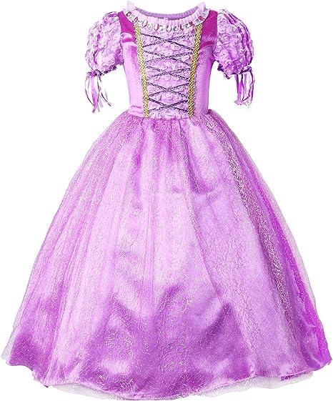 Jerrisapparel Princesse Raiponce Costume Robe De Fete Robe De Fille Amazon Fr Vetements Et Accessoires