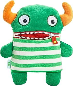 Schmidt Spiele Pat Monstruo Felpa Verde, Naranja, Color Blanco - Juguetes de Peluche (