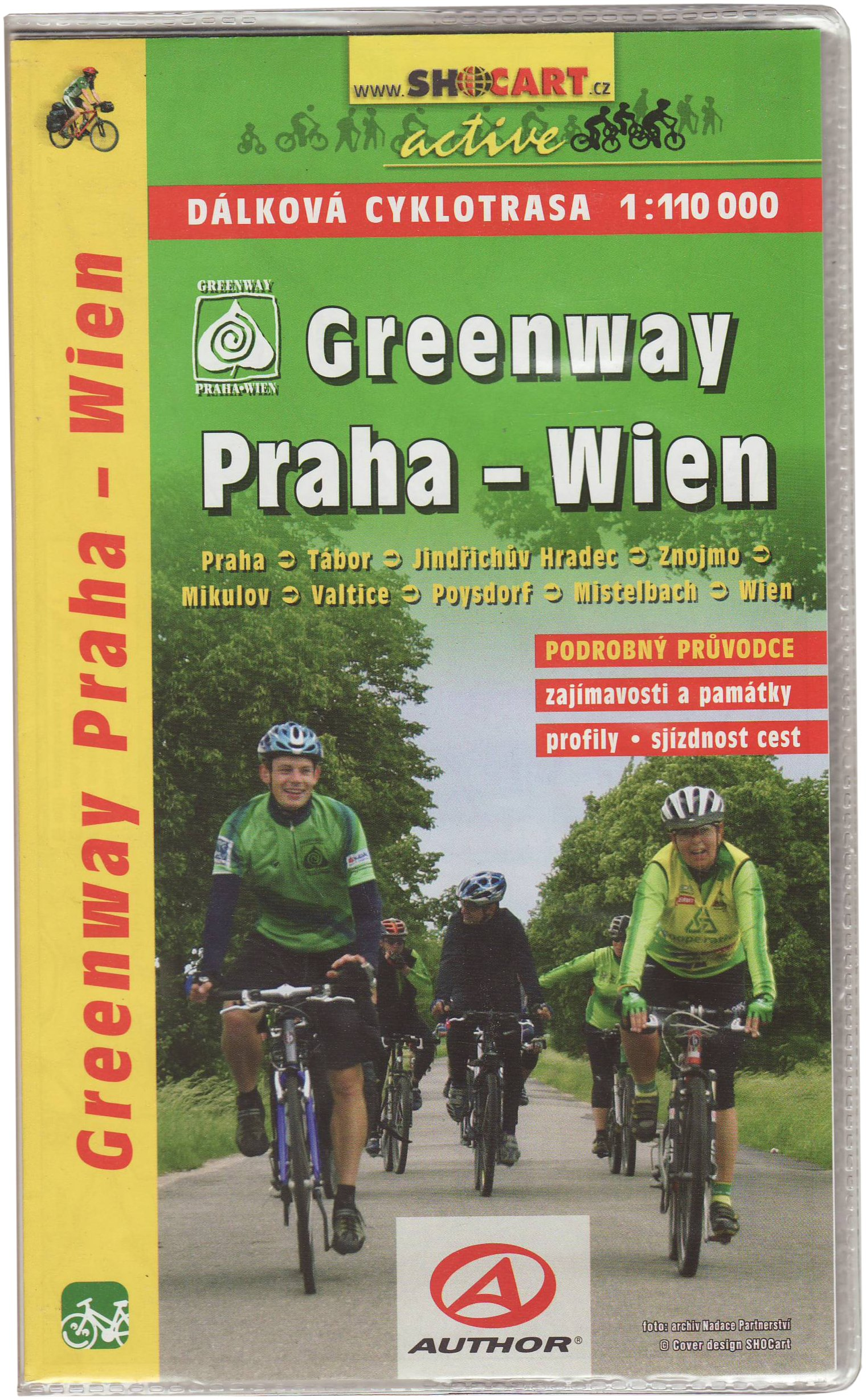 SC 636 Greenway Praha - Wien: Shocart Radkarte