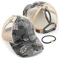 C.C Washed Distressed Cotton Denim Ponytail Hat Adjustable Baseball Cap (BT-12)(BT-13)(BT-14)(BT-15)(BT-18)(BT-780)(BT-791)