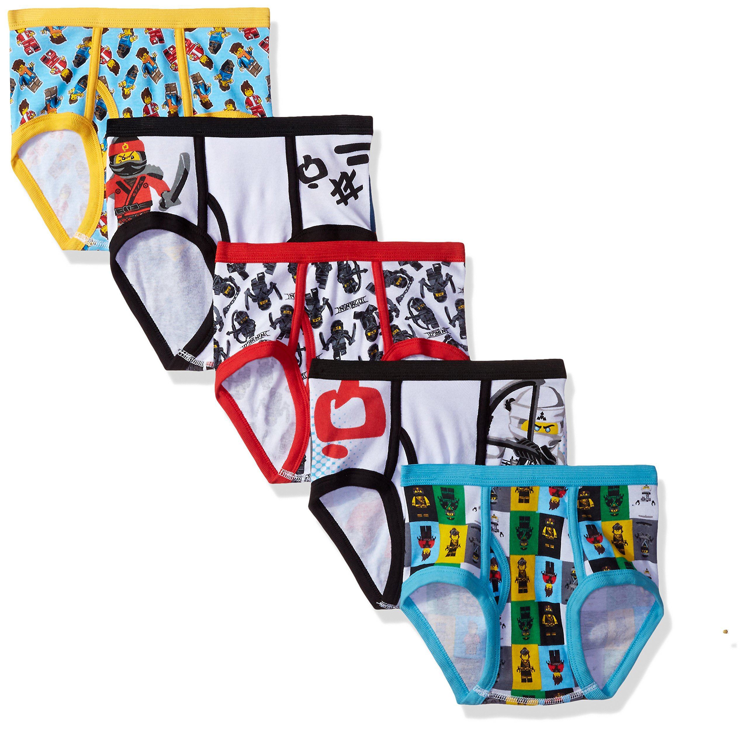 LEGO Boys Movie 2 5-Pack Briefs Or Boxer Briefs Underwear