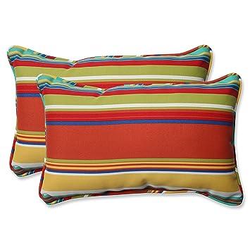 Amazon Com Pillow Perfect Outdoor Westport Spring Rectangular Throw
