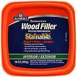 Elmer's E891 Carpenter's Stainable Wood Filler, 1 Pt Tub, 12-24 Hr, 1-Pint, Light Tan
