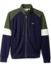 07eeca7dd5 Lacoste Men s Long Sleeve Fleece with Full Zip and Pockets Sweatshirt