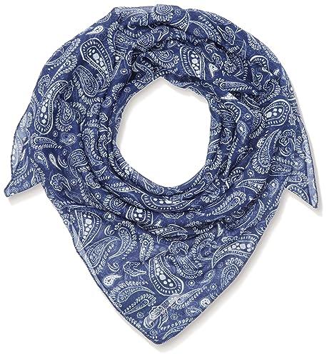 Hilfiger Denim Thdw Scarf 11, Bufanda para Mujer, Azul (Ponly Print/Blue Depths), Talla Única (Talla...