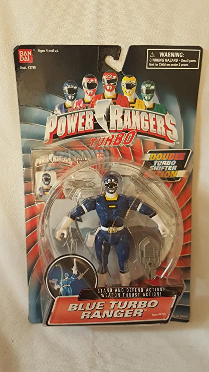 Bandai Power Rangers Blue Turbo Ranger Acion Figure