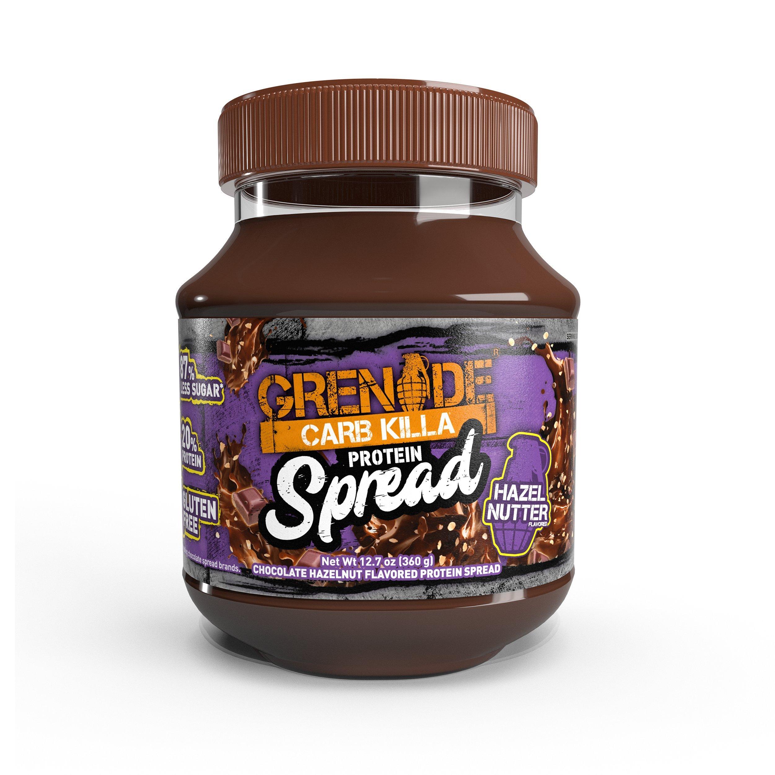 Grenade Carb Killa Protein Chocolate Spread | 7g High Protein Hazelnut Snack | Keto Friendly Low Net Carb Low Sugar | Gluten Free No Stir | Hazel Nutter, 12.7oz by Grenade