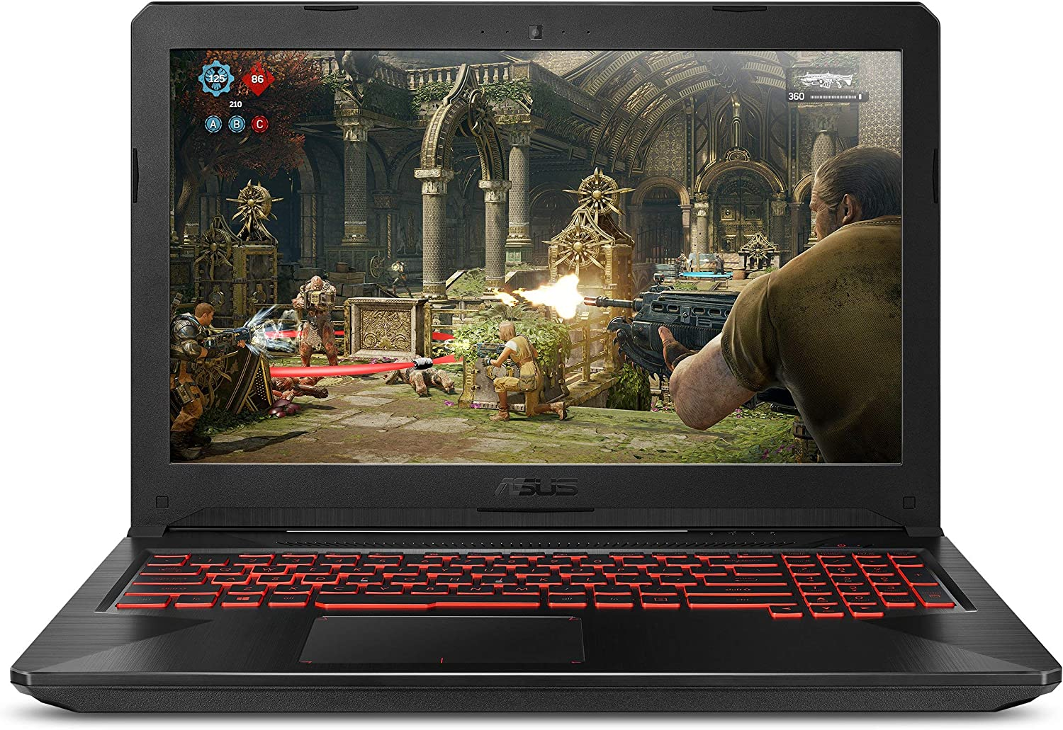 "ASUS FX504GE-ES72 Thin & Light TUF Gaming Laptop (FX504) Full HD, 8th-Gen Intel Core i7-8750H, GTX 1050 Ti, 8GB DDR4, 256GB M.2 SSD, Gigabit WiFi, 15.6"" (Renewed)"