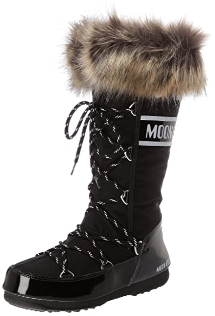 Moon Boot W.e. Monaco, Women's Boots, Black (Nero), 3.5 UK (