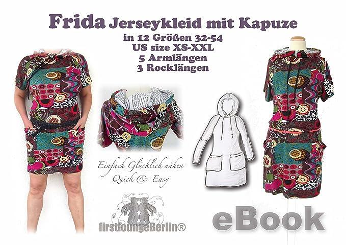 Frida Nähanleitung mit Schnittmuster auf CD für Hoodie-Shirt-Kleid ...