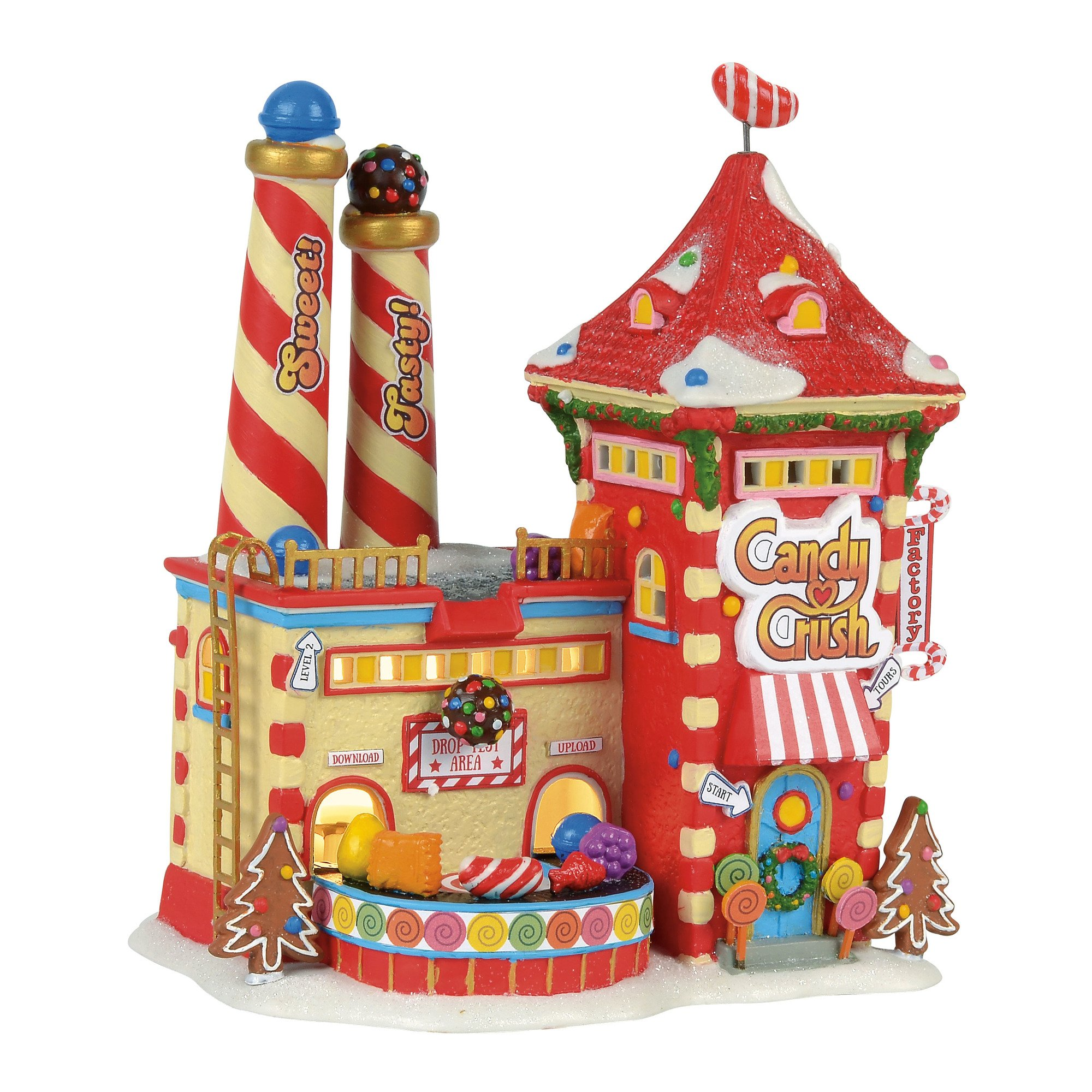 Department 56 North Pole Village Candy Crush Factory Lit Building, Multicolor by Department 56