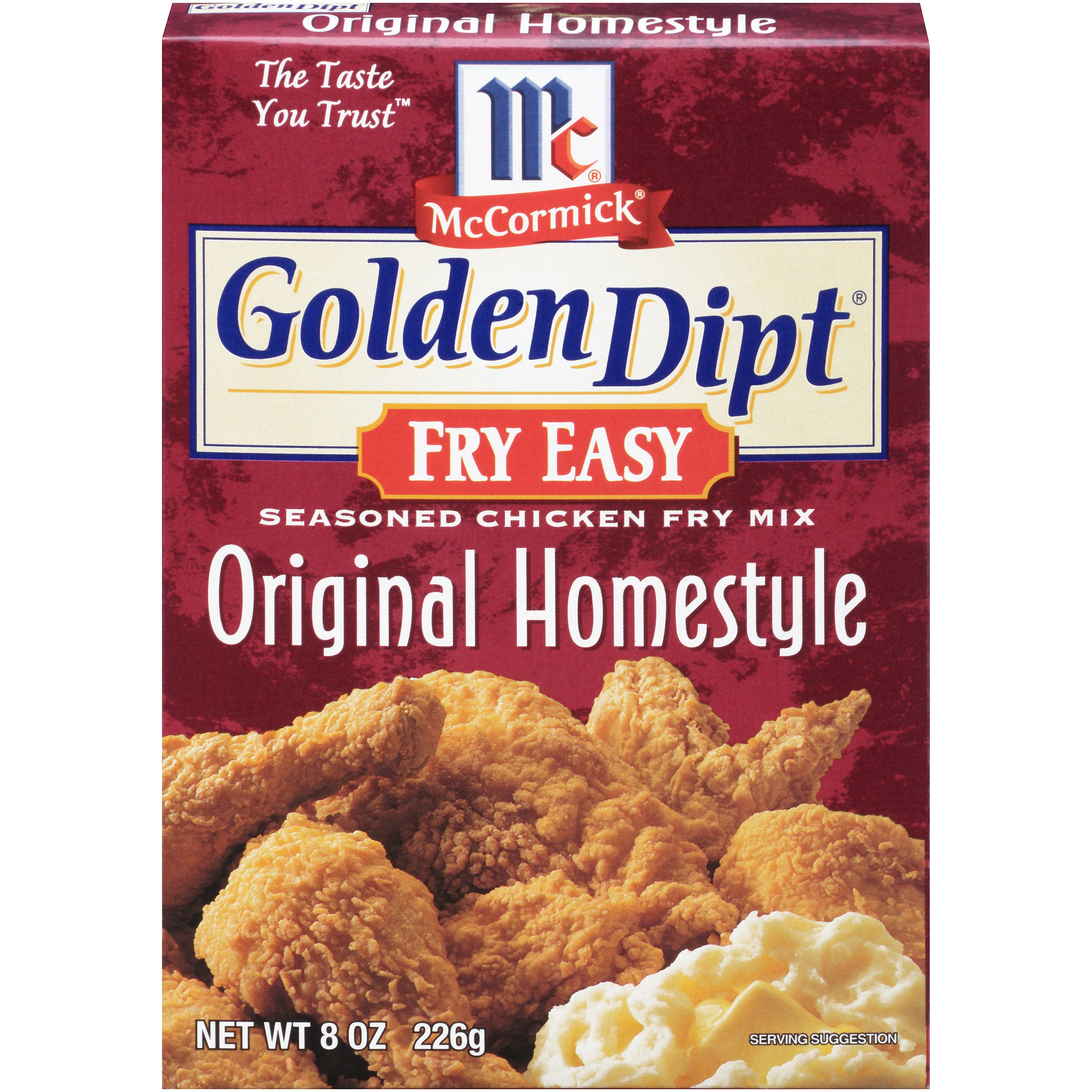 McCormick Golden Dipt Fry Easy Seasoned Chicken Fry Mix, Original Homestyle, 8-Ounce Unit (Pack of 12)