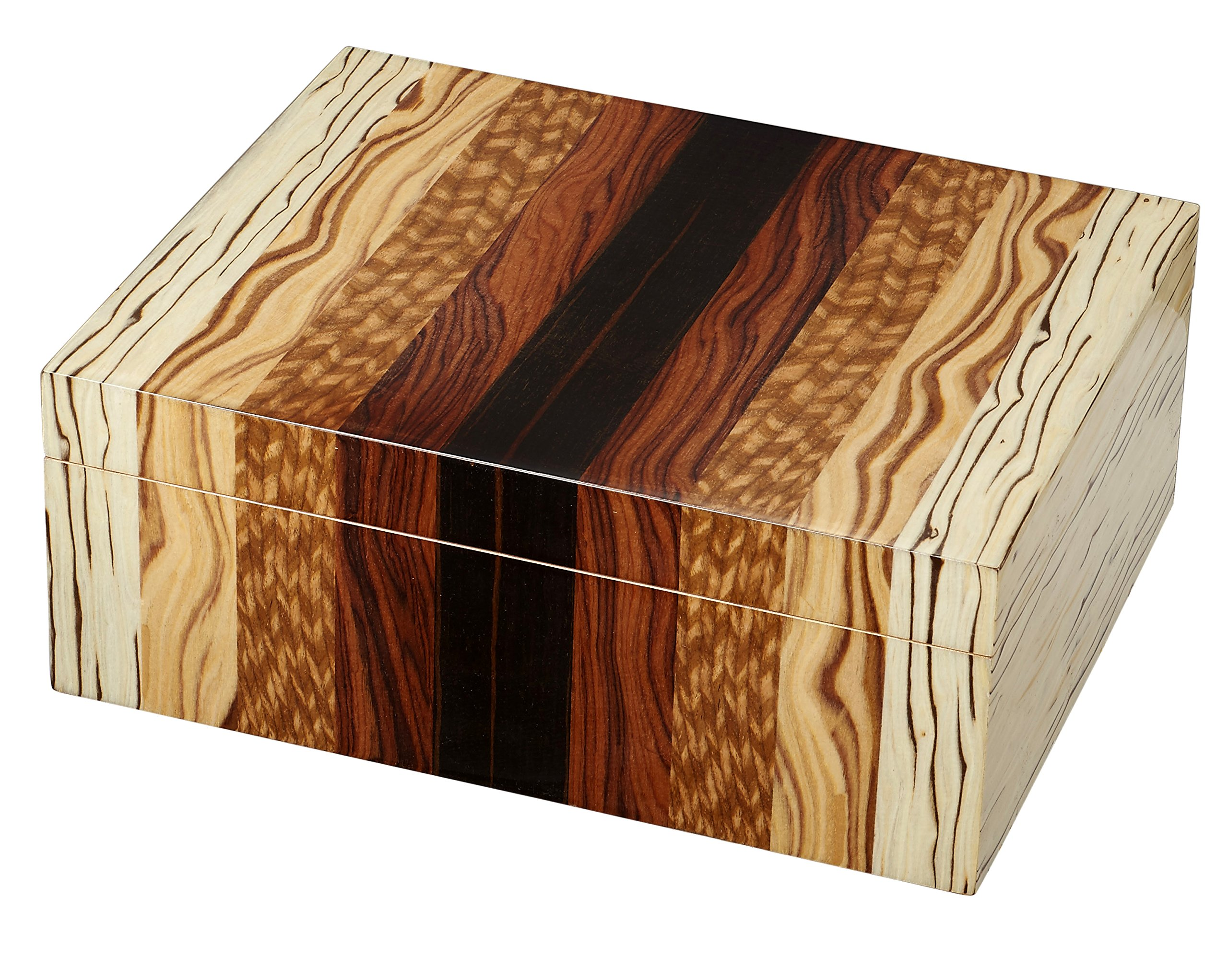 Visol Ridge Wooden Cigar Humidor - Holds 50 Cigars