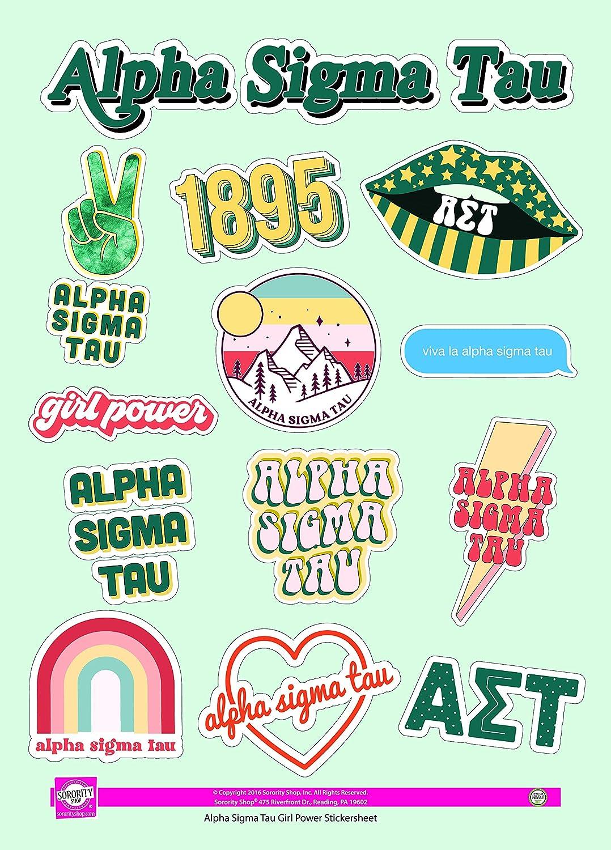 Girl Power Alpha Sigma Tau Sticker Sheet