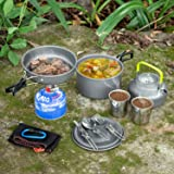 Odoland 10pcs Camping Cookware Mess