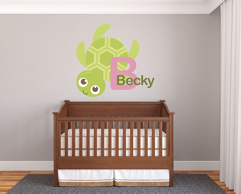 Custom Name Turtles Wall Decal Vinyl Sticker Nursery for Home Bedroom Children