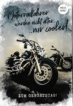 Geburtstagskarte mit motorrad motiv