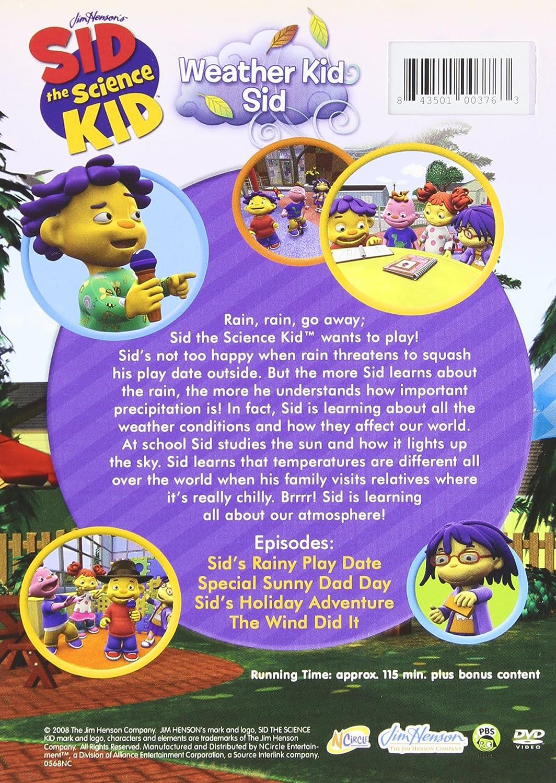 amazon com sid the science kid weather kid sid sid movies u0026 tv