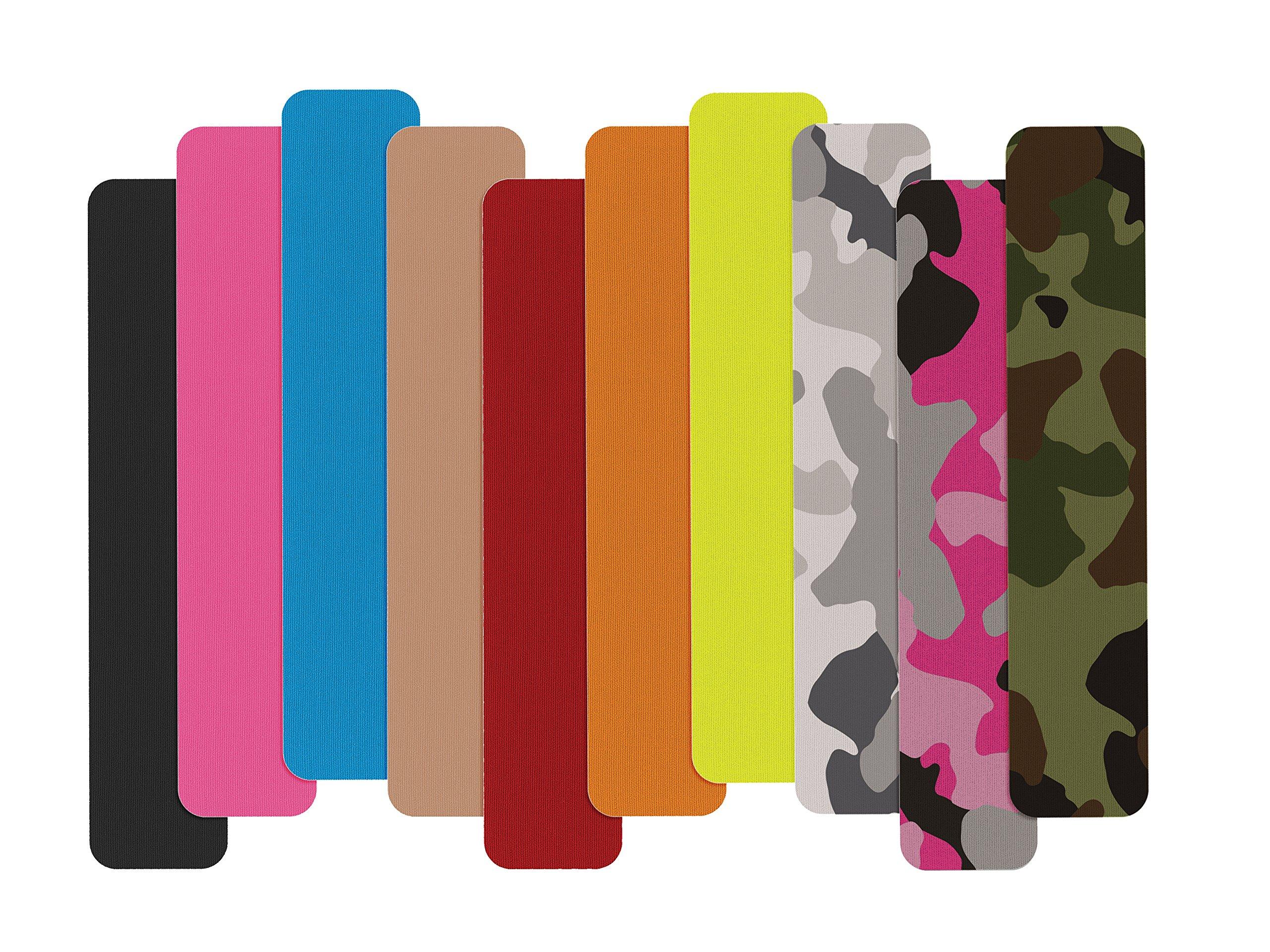Mueller Sports Medicine Kinesiology Tape I-Strip Roll (20 Strips), Green Camo, 2'' x 9.75''