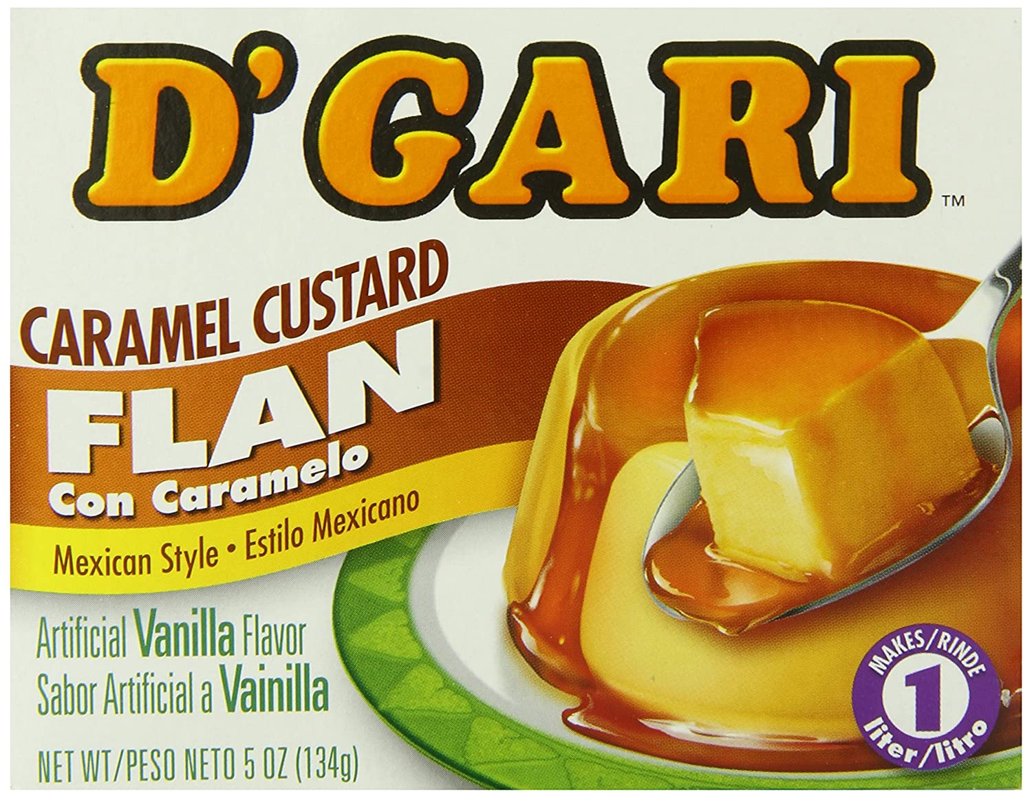 Amazon.com : DGari Flan Dessert, Regular, 5 Ounce (Pack of 24) : Eye Shadows : Grocery & Gourmet Food