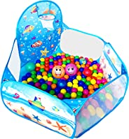 KingBee Ball Pit Pop Up Children Play Tent, Ocean Pool Baby Tent with Basketball Hoop - Toys Gifts for Kids Girls Boys Toddl