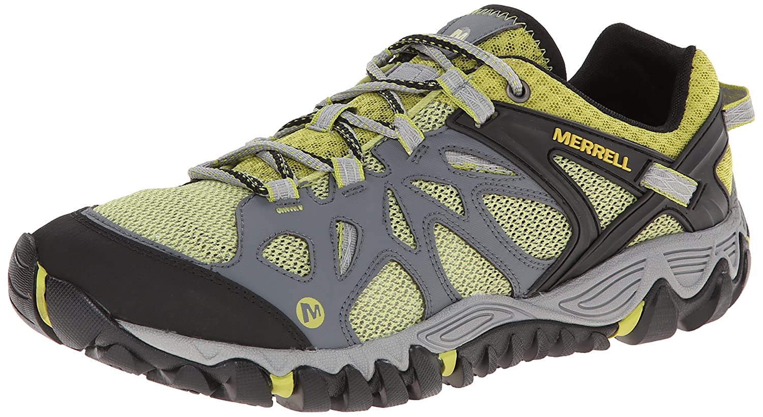 MERRELL ALL OUT BLAZE AERO SPORT HIKING WATER SHOES HIKERS MESH SNEAKERS Castle Rock/Green